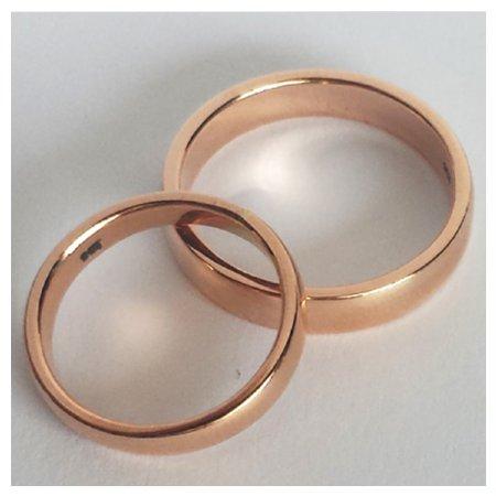 Custom Classic Rose Gold Wedding Band Custom Wedding Rings Bilingual